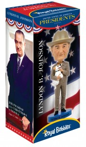 Lyndon Johnson Bobblehead box