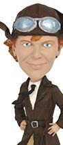 Amelia Earhart bobblehead