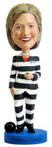 Hillary Clinton Prison Stripes Bobblehead